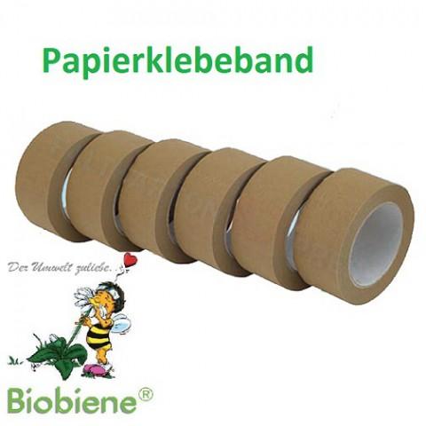 Papierklebeband 50mm x 50m Braun (1 Rolle)