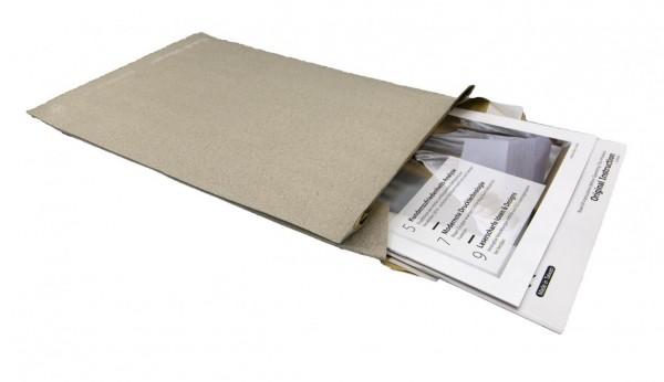 Graspapier-Polstertasche ohne Falte B4 250X353 (100 Stück)