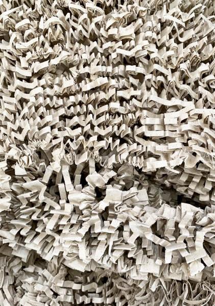 Umweltfreundliches Polstermaterial Papierwolle aus Gras Hell