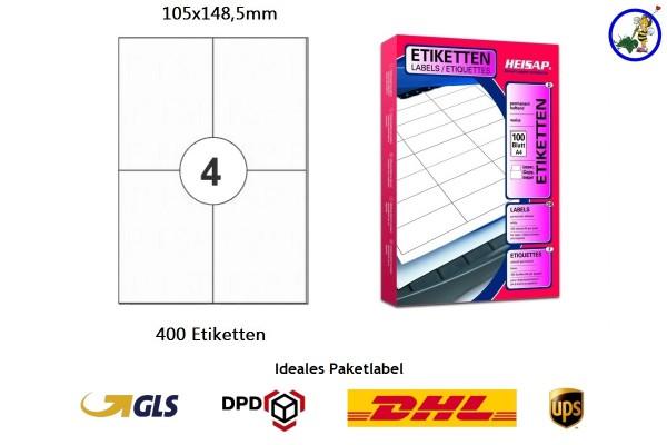 400 bedruckbare Etiketten HEI024 105x148,5mm