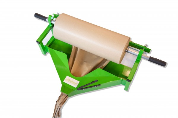 Manueller Abroller zum Knüllen von Packpapier 600mm grün
